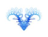 devil turned into angel - fractal art poster