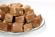 fudge on a plate