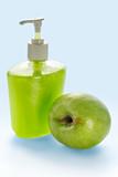 liquid apple cream soap poster