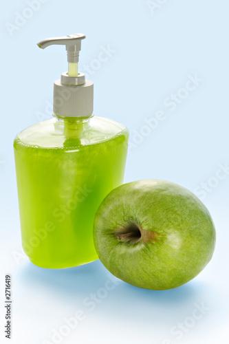 poster of liquid apple cream soap