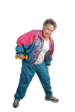 retiree keeps fit poster