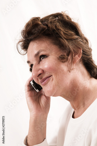 senior woman talking on cell phone