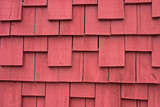 weathered red shake siding background poster