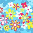 Quadro fleurs pop couleurs