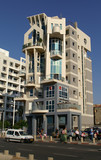 tel aviv sea shore building poster