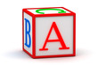 3d cube with letter a