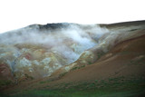 steaming volcanic landscape poster