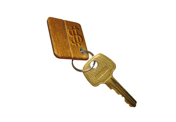 key with key ring isolated