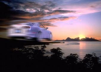car speed motion blurred