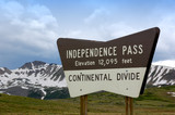 independence pass colorado poster