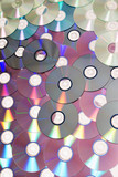 pile of many cds or dvds poster