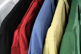 closeup of colorful clothes poster