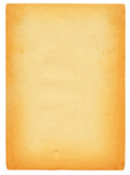 sheet of old stained paper isolated on pure white poster