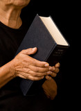 woman holding bible