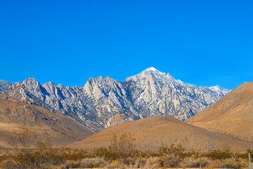 mountain range landscape in death valley national park