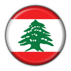 bottone bandiera libano lebanon button flag