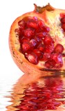 pomegranate on water poster
