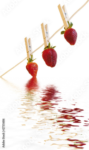 strawberrys reflection white