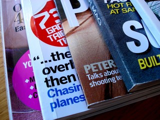 magazines overlapping