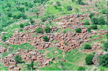 dogon village in mali, africa
