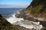 rocky oregon coastline poster