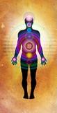 body chakras - healing energy poster