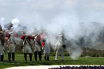 british army firing a guns