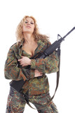 soldier woman