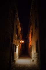 rovinj streets at night