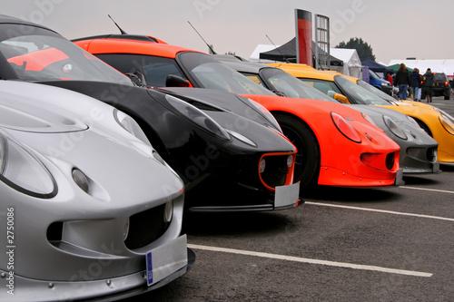 Foto op Canvas Snelle auto s supercar lineup