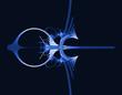 fond abstrait bleu