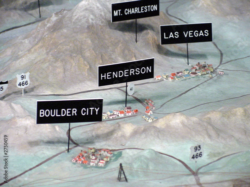 3d model of las vegas, henderson & boulder city - 2750459