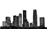 cityscape - silhouettes of skyscrapers poster