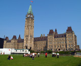 changing guard in front of the canadian parliament poster