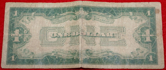 back of old us dollar