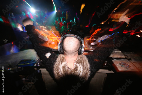 a dj salutes his crowd