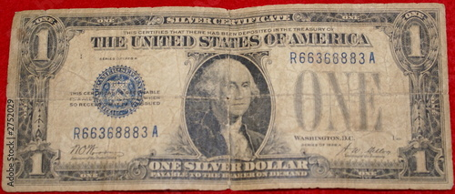 front of old us dollar