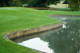 golf green and water hazard poster
