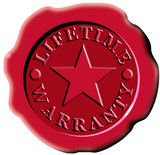red seal lifetime warranty star poster