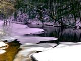 idyllic mountain stream poster