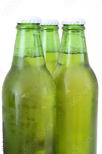 three beer bottle