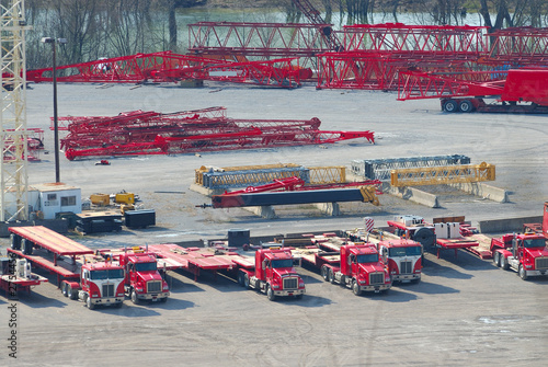 trucking industry aerial view