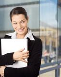 smiling businesswomen poster