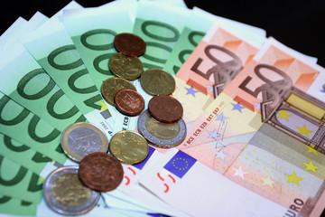 euro over black
