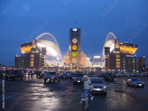 qwest stadium at night