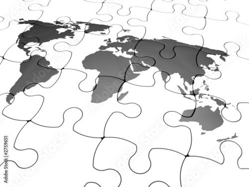 jigsaw of the world © Kirsty Pargeter