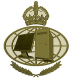 royal seal pc with globe poster