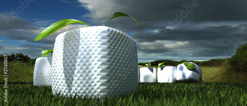 golf cube on green 2