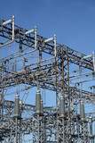 high voltage power station poster
