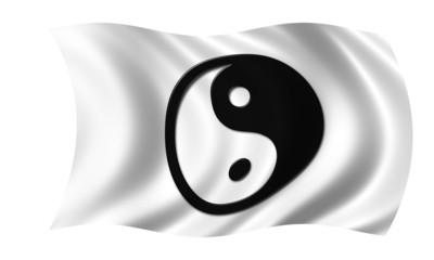yin yang fahne
